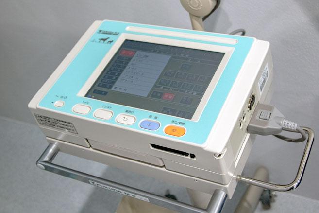 山之上動物病院の設備紹介:ドップラー超音波診断装置